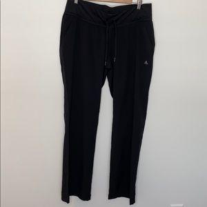 Adidas black climalite slant pockets track pants L